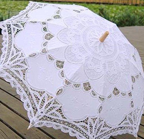 [해외]Stillcool 레이스 양산 귀여운 흰색 레이스 우산 길이 우산 공주 우산 신부를위한 웨딩 도구 촬영용/Stillcool lace sun umbrella cute white lace umbrella long umbrella princess umbrella for bride wedding tools for photography