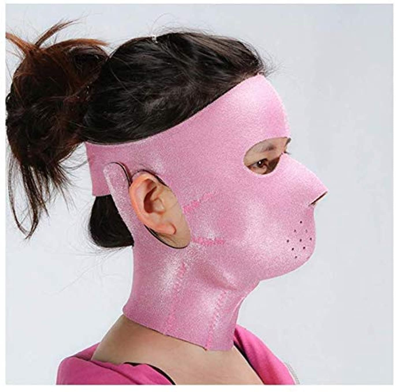 パッケージ合理的文句を言う美容と実用的なフェイスリフトマスク、フェイシャルマスクプラス薄型フェイスマスクタイトアンチタギング薄型フェイスマスクフェイシャル薄型フェイスマスクアーティファクトビューティーネックストラップ付き