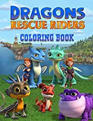 Dragons Rescue Riders Coloring Book: Perfect Coloring Book For Kids