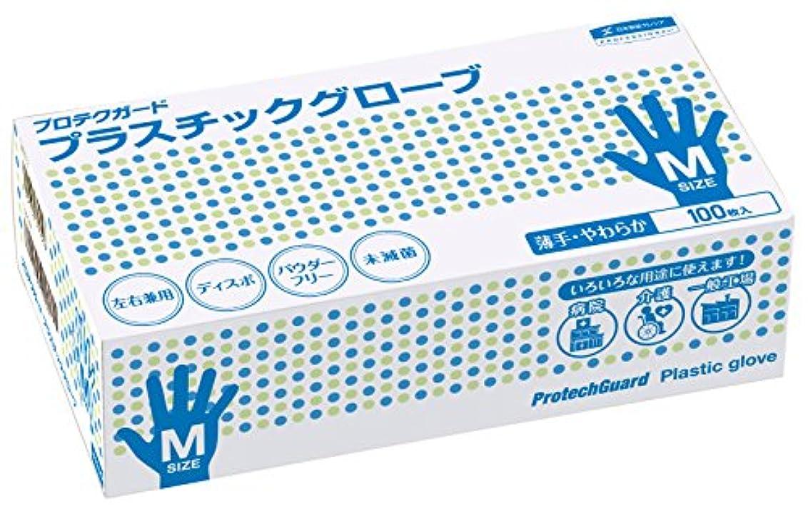 好奇心盛汗アソシエイトプロテクガードプラスチックグローブM サイズ