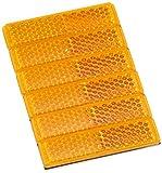 エーモン 反射レンズ 黄 (テープ厚0.75mm) 幅12mm×長さ50mm×厚さ5.4mm 6706