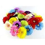 ガーベラ 造花 カラフル11色 33個 セット 花のみ お店の装飾 結婚式 イベント 二次会 パーティー