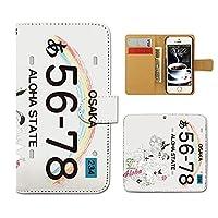 (ティアラ) Tiara Galaxy S6 SC-05G スマホケース 手帳型 名入れ 手帳ケース カバー ナンバープレート 名入れ ハワイ F0089010080803