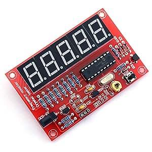 水晶発振周波数カウンタテスターDIYキット,SODIAL(R) 50MHz水晶発振周波数カウンタテスターDIYキット 5デジタルディスプレイ解像度 赤