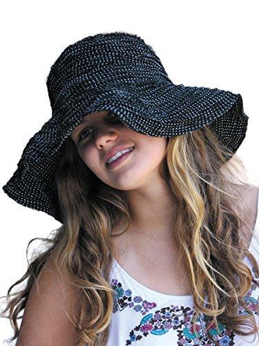 (サングローブ) Sunglobe UVカット 帽子(女性用) - レディース ハット - ファブリック スクランチ ハット ※紫外線カット(UVカット)最高値UPF50+ ブラック