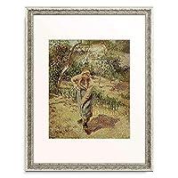 カミーユ・ピサロ 「Countrywoman working in the garden.」 額装アート作品