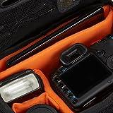Amazonベーシック ショルダーバッグ 一眼レフ用 Lサイズ ブラック(内装色オレンジ)