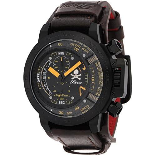 [エンジェルクローバー]Angel Clover 腕時計 ROENコラボ ブラック文字盤 クロノグラフ デイト TC48ROY2 メンズ