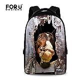 [FOR U DESIGNS]個性 バックバッグ Backpack 900D 通勤通学旅行 トラベルバック アウトドアバック 女性適用 学生適用 Sサイズ 馬2