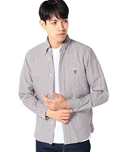 (コーエン) COEN ギンガムチェックオックスボタンダウンシャツ 75106366056 2550 MD.BROWN(25) M