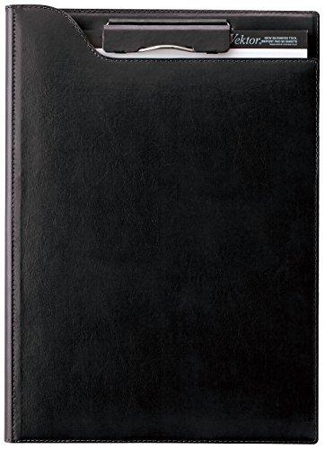 レイメイ藤井 クリップファイル zeitVektor A4 革製 ブラック ZVF654B