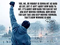 Rocky Inspired Inspirational Quote Poster (18 x 24 Inches) [並行輸入品]