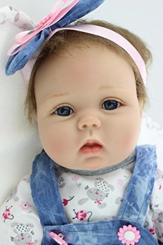 55 cm Rebornベビー人形22インチ磁気おしゃぶりシリコンviniyベビー女の子おもちゃギフト