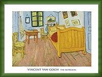 ポスター フィンセント ファン ゴッホ The Bedroom 1888 額装品 ウッドベーシックフレーム(グリーン)