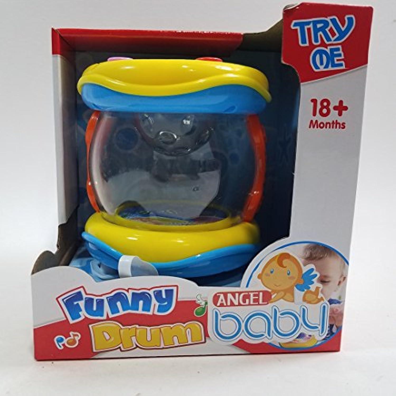 My First Funnyドラム6ボタンwith 5 Musicalスタイルサウンド&ライトプラスチック幼児/赤ちゃんおもちゃ