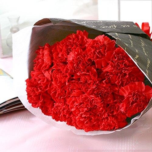花由 母の日限定 世界品質 カーネーションの花束 華やかなレッド