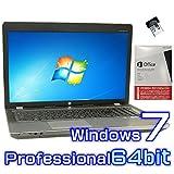 中古ノートパソコン hp ProBook 4730s【Windows7 Pro 64bit・Microsoft Office 2013付き ワード エクセル パワーポイント】