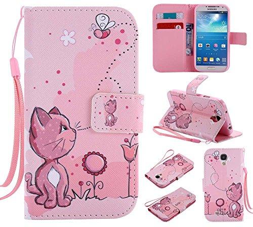 C-Super Mall-JP Samsung Galaxy S4 ケース: 品質PUレザー財布フリップスタンドケース