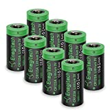 Enegitech 8個 CR123A 3Vリチウムバッテリ1600mAh非充電式 PTC保護付き ArloカメラVMS3230(旧バージョン)懐中電灯カメラ用