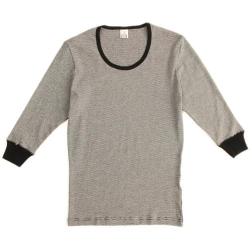 (ヘルスニット)HEALTHKNIT 3/4 Sleeve T-Shirts HT-001  BLK×NAT M
