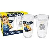 [アクエリアス]Aquarius Smithsonian Rosie The Riveter 2 pint Glass Set 42011 [並行輸入品]