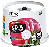 TDK CD-Rデータ用 32倍速対応ホワイトプリンタブル ポットケース入り50枚パック [CD-R80EWX50PS]