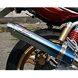 アールピーエム(RPM) フルエキゾーストマフラー 80D-RAPTOR Titan ブルーチタンサイレンサーカバー CB750(RC42) 6503Z