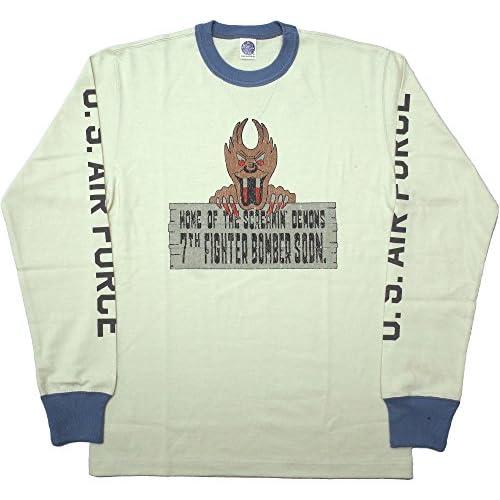 TOYS McCOY #TMC1556 ロングスリーブ Tシャツ『7TH FIGHTER BOMBER SQDN』L021チャコールxグレー