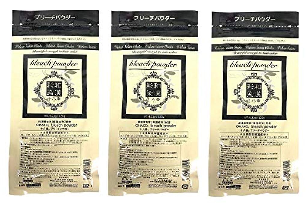 【3個セット】グランデックス 和漢彩染 十八番 120g ブリーチパウダー