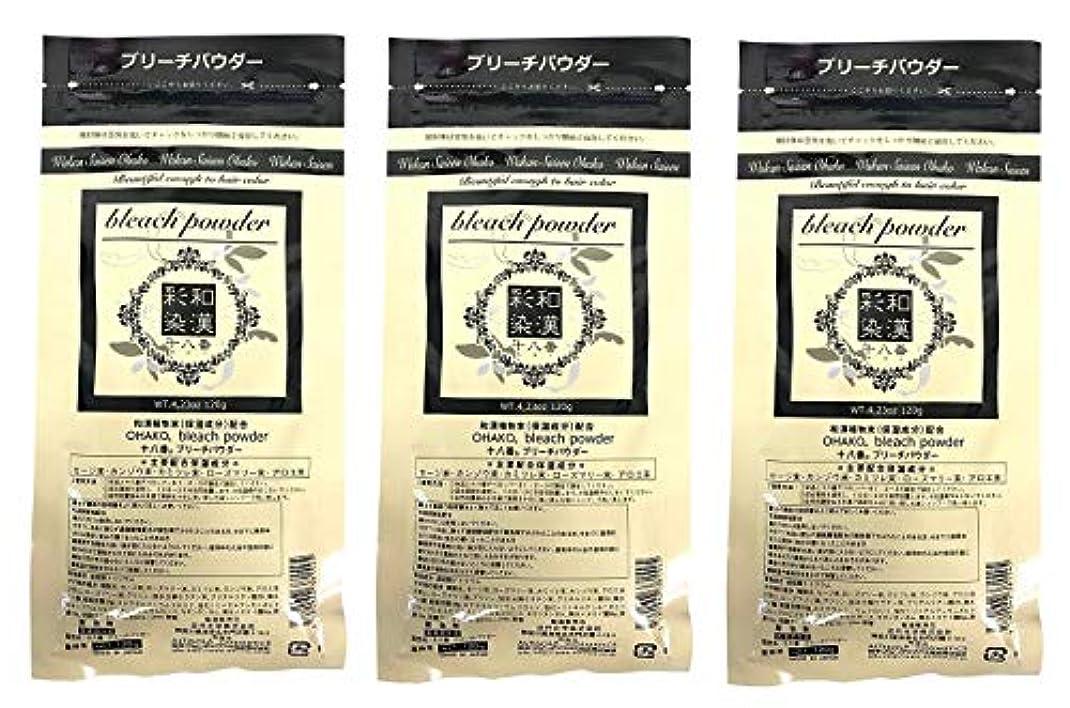 複製するもろい実質的【3個セット】グランデックス 和漢彩染 十八番 120g ブリーチパウダー