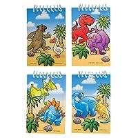 Dozen Assorted Dinosaur Mini Spiral Boundメモ型ノートブックパッド