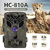 DishyKooker HC-810A HD Hunting Wildlife Camera Scouting Trail Camera Wildview Motion Night Vision Camera Home Safe Game Cam