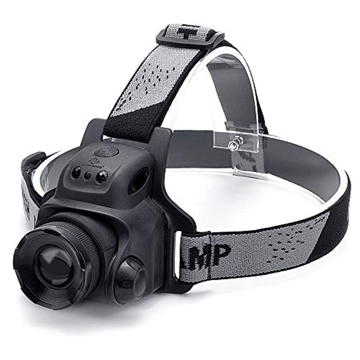 ブランデー反動キャンセルNN.ORANIE LEDヘッドライト usb充電式 センサー機能 2000mAh IP65防水 3点灯モード ズーム機能搭載 角度調節可能 登山/夜釣り/キャンプ/防災/作業用