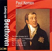 Ludwig van Beethoven: Piano Sonatas Volume 5 by Paul Komen (2006-05-09)