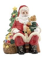"""Nikko Ceramicsクリスマス3dサンタCookie Jar 11"""" H"""