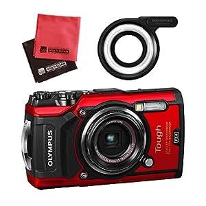 【セット】 OLYMPUS オリンパス コンパクトデジタルカメラ Tough TG-5 レッド&SD16GB&LEDライトガイド&クロス