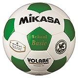 ミカサ サッカーボール4号検定球 白/緑 SVC402SBC-WG