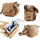 ライトブラウン中サイズキャンバスCarry Bag for the Roccat Kone aimo| Kone emp| Kone pure| Kone XTD max| Kova Pure – BY DURAGADGET