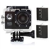 Crenova 防水スポーツカメラ アクションカメラ 1200万画素 1080P CS710 120度広角レンズ ダイビング用ビデオDVR (黒)