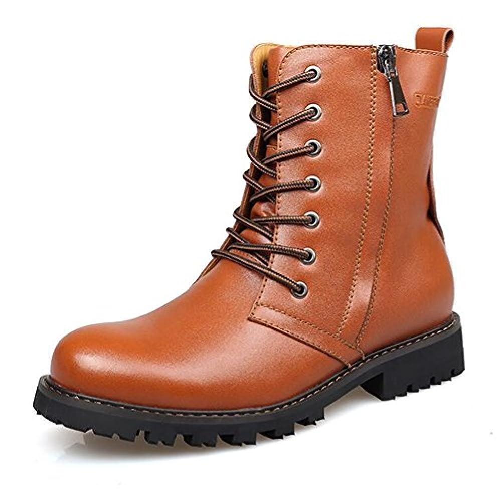 設計いわゆるバナナSUN ファッションPUブーツアウトドアレジャーネクタイ靴ひも (サイズ さいず : EU40/UK7/CN41)