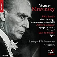 Bartok: Music for Strings, Percussion and Celesta; Honegger: Symphony by Leningrad Philharmonic Orchestra