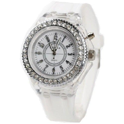 Geneva レインボーLED腕時計 ホワイト...