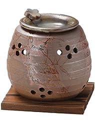 山下工芸 常滑焼 石龍焼〆藻掛茶香炉 12.5×11×11cm 13045730