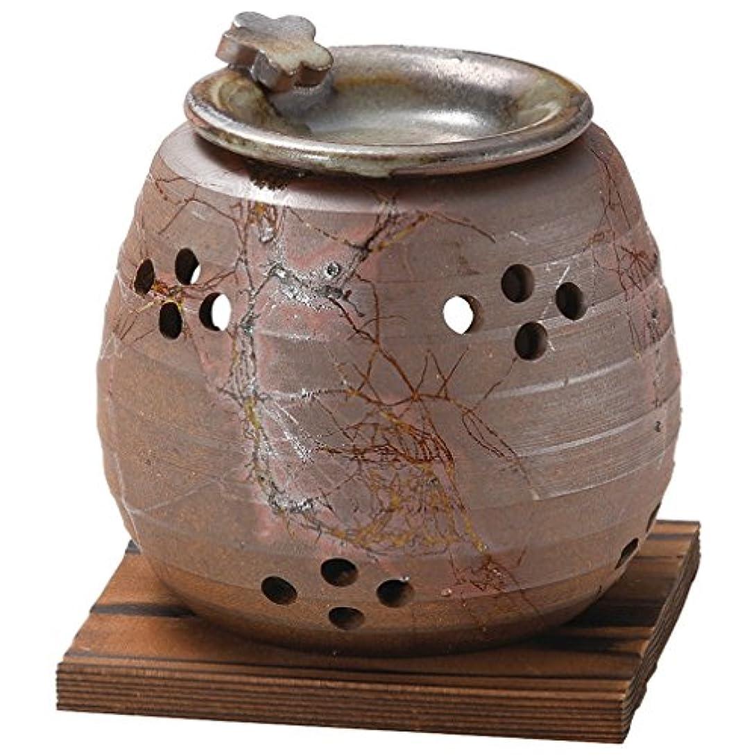 不安不健康ハイランド山下工芸 常滑焼 石龍焼〆藻掛茶香炉 12.5×11×11cm 13045730