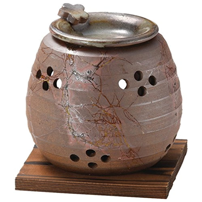 タイピストバイアスプレビスサイト山下工芸 常滑焼 石龍焼〆藻掛茶香炉 12.5×11×11cm 13045730