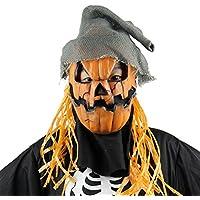 BESTOYARD ハロウィーンマスクノベルティコスチュームパーティー小道ラテックスパンプキンかかしの頭のマスクハット