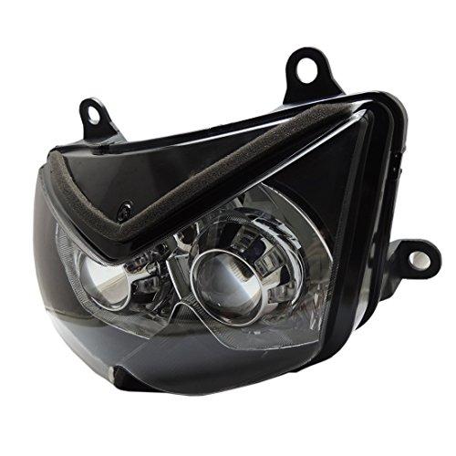 川崎用 HID ヘッドライト CCFL イカリング プロジェクター 適応車種 NINJA 250R 2008-2012 Z750/ Z1000ブルー