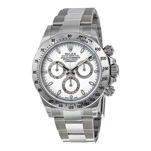 Rolex(ロレックス) Cosmograph Daytona White Index Dial Oyster Bracelet Men's Watch コスモグラフ デイトナ白インデックス ダイヤル オイスター ブレスレット メンズ腕時計 [並行輸入品]