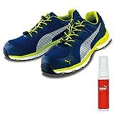 PUMA(プーマ) 安全靴 作業靴 ヒューズモーション 2.0 ブルー ロー 26.5cm 消臭スプレー付 64.230.0
