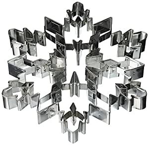 R & M International Giant 7.5 Inch Snowflake Cookie Cutter with Interior Cut-out [並行輸入品]